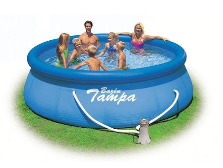 Marimex bazen z napihljivim robom Tampa 3,66 x 0,91m, s kartušnim filtrom