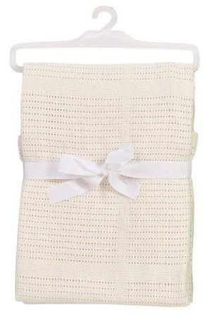 BabyDan Háčkovaná bavlněná deka New, béžová