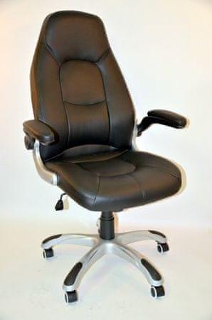 Hyle pisarniški stol K-8332B usnje črna