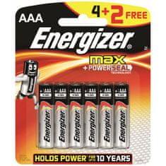 Energizer MAX AAA 4+2 Alkáli elem, 6 db