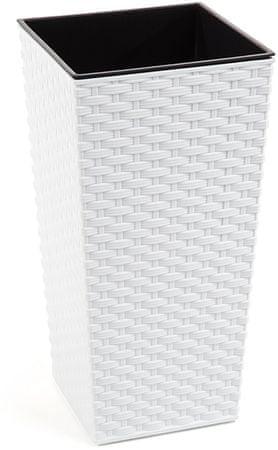 NOHEL GARDEN Obal na kvetináč Finezia Rattan 47 cm biela