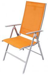Rojaplast krzesło ogrodowe ANF-26C pomarańczowe (606/1)