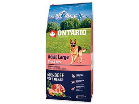 Ontario Adult Large Beef&Turkey Kutyatáp, 12 kg