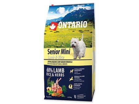 Ontario Senior Mini Lamb & Rice Kutyatáp, 6,5 kg