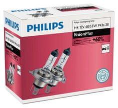 Philips Żarówki samochodowe VisionPlus H4, 12 V, 60/55 W (2 szt.)
