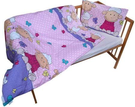 COSING 2-delni set posteljnine Ovčka, roza