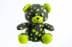 Teddies Medvedík svietiaci v tme 21 cm sivý/žltý