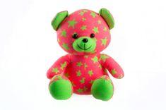 Teddies Medvedík svietiaci v tme 21 cm ružový/zelený