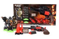 Teddies Sada pistole Black Series 35cm na pěnové náboje s doplňky