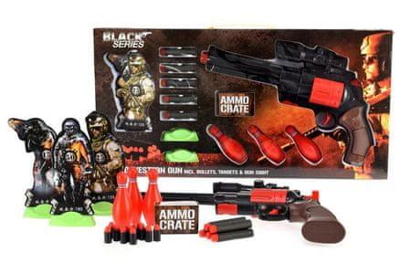 Teddies Pistolet na piankowe naboje 35 cm, Black Series