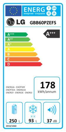 70c2a5a4c9 GBB60PZEFS. Márka: LG Katalógus száma: 908195. LG GBB60PZEFS Kombinált  hűtőszekrény ...