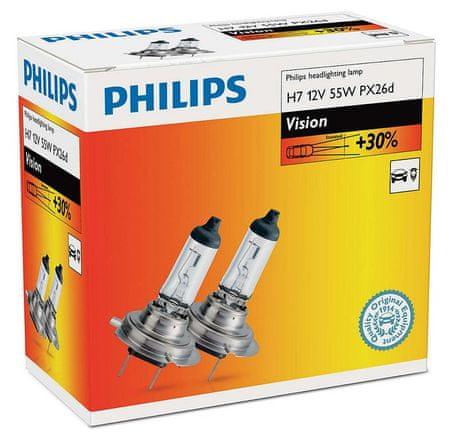 PHILIPS (12972PRC2) Vision H7 Autó izzó, 12V, 55W, 2 db