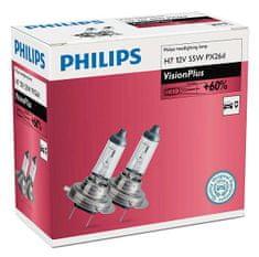 Philips Żarówki samochodowe VisionPlus H7, 12 V, 55 W (2 szt.)