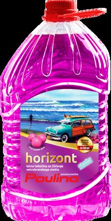 Paulina letna tekočina za vetrobransko steklo Horizont PM 3L, PET bubble gum