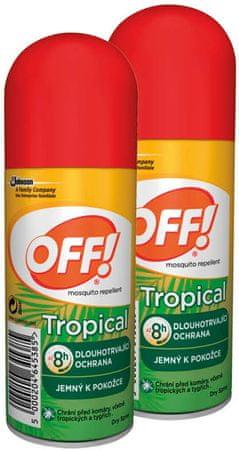 OFF! Trópusi rovarriasztó spray, 2x100 ml