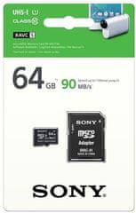Sony microSDXC 64GB, 90 MB/s, UHS-I + adapter
