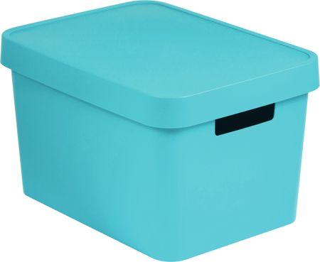 CURVER Úložný box s vekom Infinity 17 l modrá