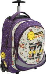 Smiley ruksak s kotačićima, ljubičasti/bijeli