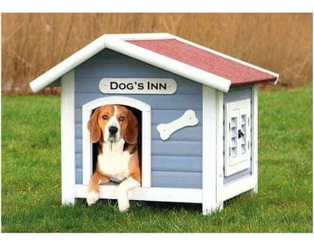 Trixie drewniana buda dla psa, niebieska 107x93x90cm
