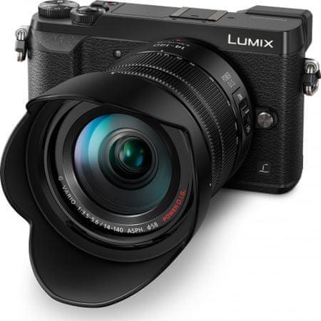Panasonic digitalni fotoaparat Lumix DMC-GX80HEG + 14-140 mm, črn