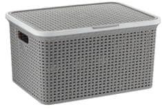 Kela škatla za shranjevanje s pokrovom Rio 38 L