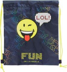 Smiley vrečka za copate, modra