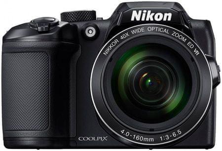 Nikon fotoaparat Coolpix B500 + SD 16GB + KATA DL-L431 LITE, črn,
