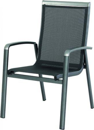 RIWALL Forios - hliníková stohovateľná stolička