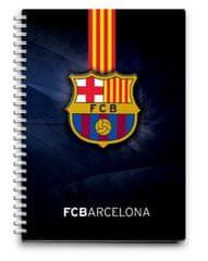 Barcelona FC bilježnica spirala PVC, 80L 80G