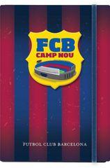 Barcelona FC bilježnica, tvrda s elastičnom trakom A5/1R