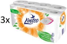 LINTEO beli toaletni papir, 3-slojni, 3 x 16 rolic - Poškodovana embalaža