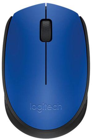 Logitech M171 Wireless optična miška, plavi