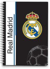 FC Real Madrid bilježnica spirala A6, 80L 80G