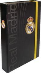 FC Real Madrid fascikl s gumicom, A4 5cm, crni