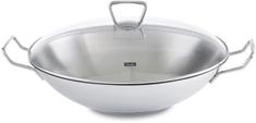 FISSLER Rozsdamentes acél wok fedővel 35 cm Kunming