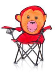 Happy Green Detské skladacie kreslo Opica