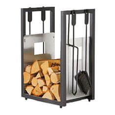 M.A.T Group stalak za drva s kompletom pribora za kamin, 4 komada