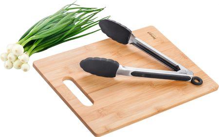 Lamart szczypce kuchenne i deska Bamboo 30 x 22 cm LT2060