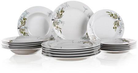Banquet Zestaw talerzy OLIVES, 18 szt., OK