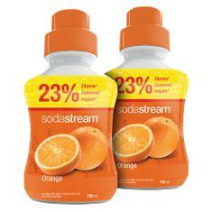 SodaStream Narancs Ízű Szörp, 2 x 750 ml