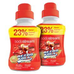 SodaStream Retro Cola és Citrus Ízű Szörp, 2 x 750 ml