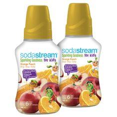 SodaStream Kids Narancs és Barack Ízű Szörp, 2 x 750 ml
