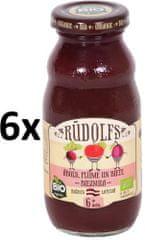 RUDOLFS BIO Dětský juice jablko+švestka+řepa - 6x190 g