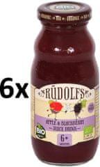 RUDOLFS BIO Dětský juice jablko+ostružina - 6x190