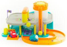 Teddies BABY Piętrowy garaż z torami i dwoma autami