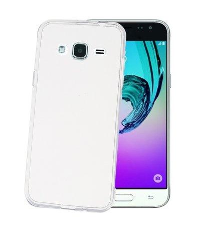 CELLY Samsung Galaxy J3 Szilikon mobiltelefon tok, Átlátszó