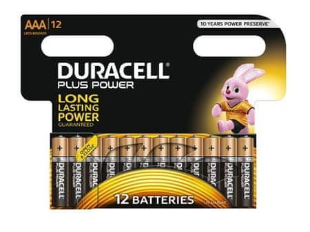 Duracell alkalne baterije Plus Power MN2400B12 AAA, 12 kosov