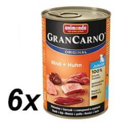 Animonda GranCarno Junior Csirke+Nyúl 6 x 400 g