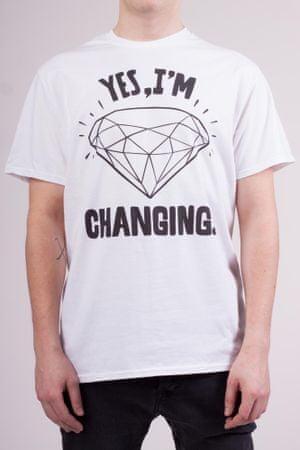 KlokArt pánské tričko L bílá