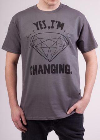 KlokArt pánské tričko S šedá